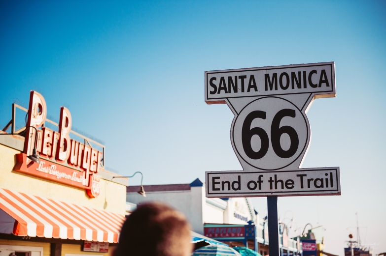 Santa Monica is where the famous Route 66 ends. This is where we took on to Pacific Highway.