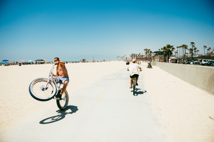 Cruising at Venice Beach, CA.