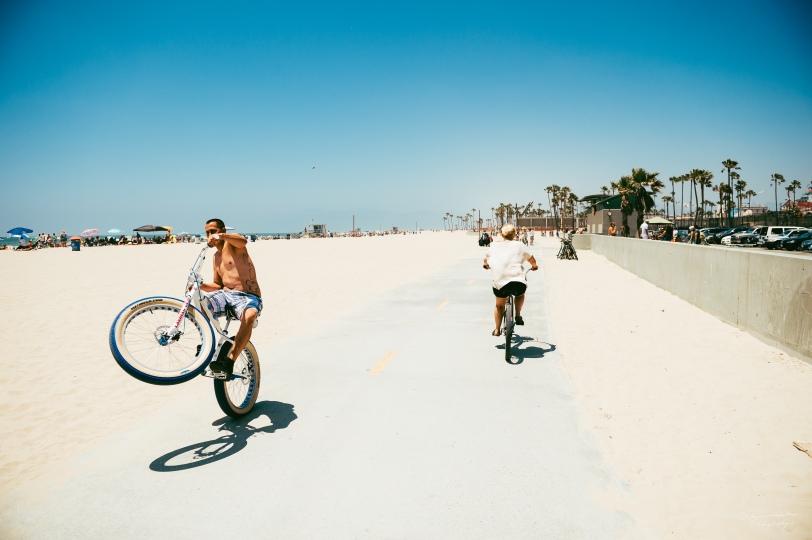 Cruising at Venice Beach, CA.