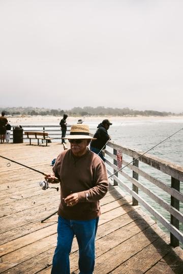 A fisherman in Pismo Beach, CA