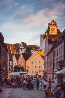 Evening light in Füssen.